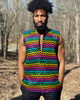 Men's Colored Ankara Sleeveless Shirt