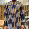 The Mix Embroidered Faso Dan Fani Shirt Black/Gold