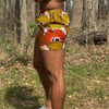 The New Beach Shorts Orange/Green