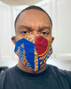 Face Masks African Fabric Cotton Washable Protective Men's Women's