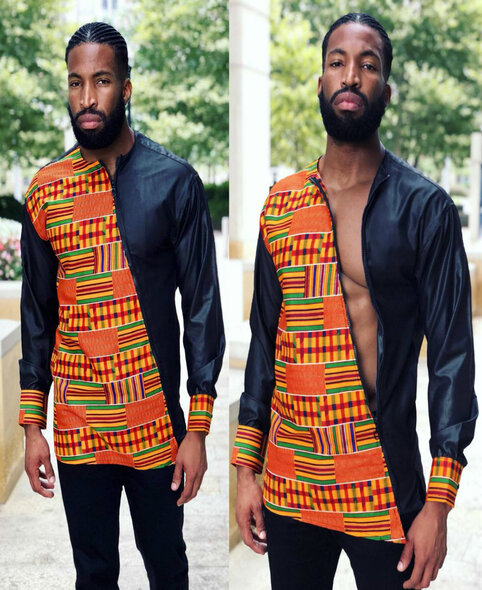 The Asymmetrical Zipper Shirt Kente