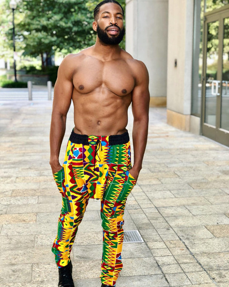 Drop Crotch Pants Kente