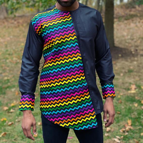 The Asymmetrical Zipper Shirt Colors