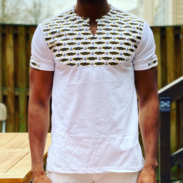 T-Shirt Ankara Prints White