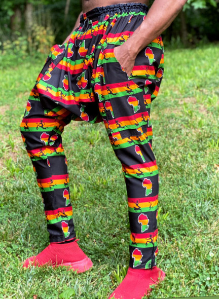 Juneteenth Drop Crotch Pants