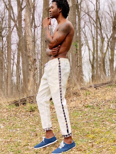Linen Ankara Drawstring Pants