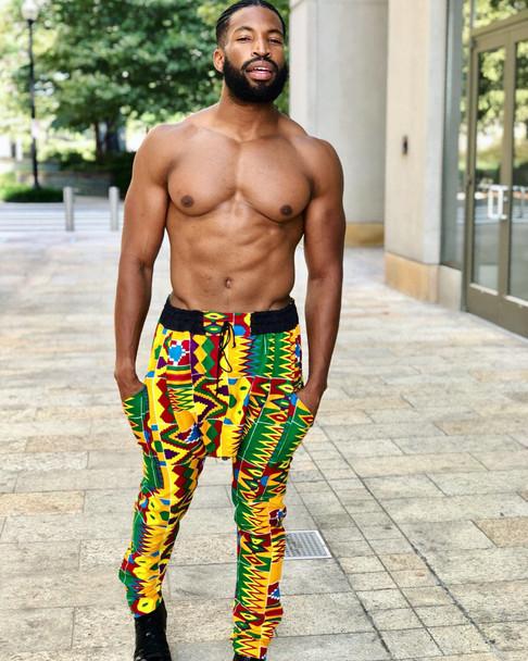 Drop Crotch Pants Kente