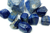 LAPIS LAZULI Lapis lazuli, or lapis for short, is a deep blue, semi-precious stone prized since antiquity for its intense color. As early as the 7th millennium BC, lapis lazuli was mined in the Sar-i Sang mines, in Shortugai, and in other mines in the Badakhshan province in northeast Afghanistan.  At the end of the Middle Ages, lapis lazuli began to be exported to Europe, where it was ground into powder and made into ultramarine, the finest and most expensive of all blue pigments. It was used by some of the most important artists of the Renaissance and Baroque, including Masaccio, Perugino, Titian and Vermeer, and was often reserved for the clothing of the central figures of their paintings, especially the Virgin Mary.