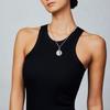 18K Venetian Princess Satin Finish Diamond Accent Medallion Locket Charm