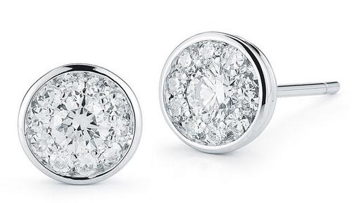 Roberto Coin Diamond  18K White Gold Diamond Earrings