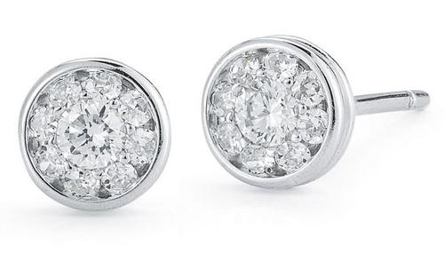 Roberto Coin Fantasia 18K White Gold Small Round Diamond Earrings