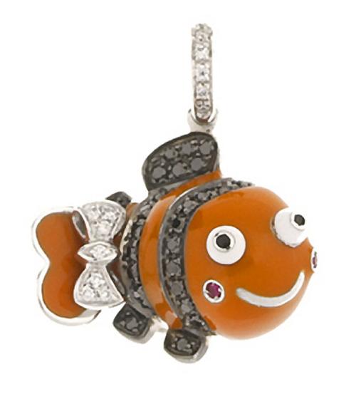 Aaron Basha 18K White Gold Clown Fish