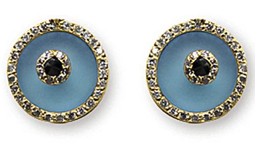 Aaron Basha Blue Topaz Evil Eye (Medium)