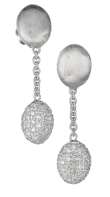 Marco Bicego Siviglia Short Drop Earrings in 18kt White Gold