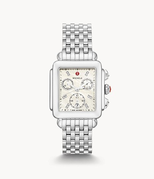 Michele Deco Stainless with Diamond Dial