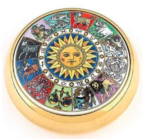 Staffordshire Signs of the Zodiac Paperweight