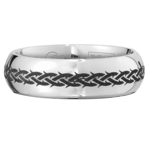 Scott Kay Native Wedding Band Braided Thorns Rounded Edge