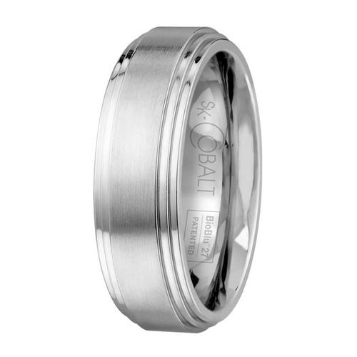 Scott Kay Prime Wedding Band Double Graded Edge Thick