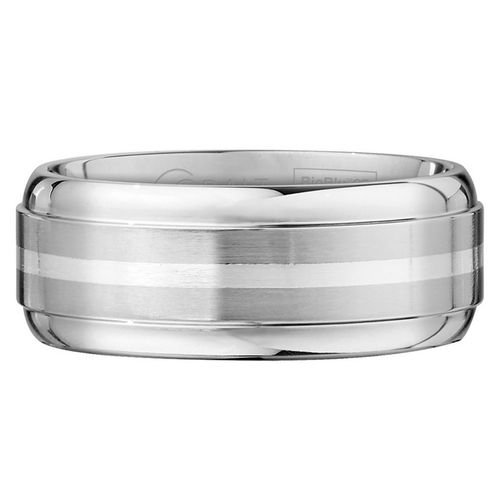 Scott Kay Unity Sterling Silver Wedding Band One Stripe Thick