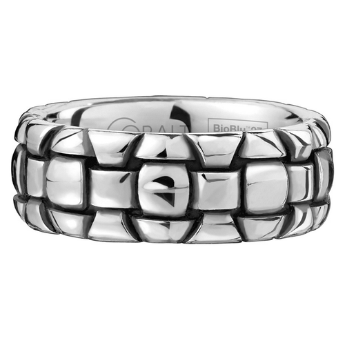 Scott Kay Troy Wedding Band Aligned Bricks