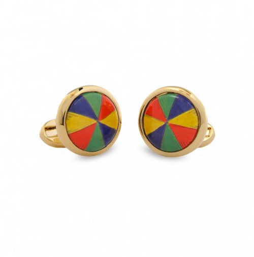 HALCYON DAYS UMBRELLA ROUND CUFFLINKS