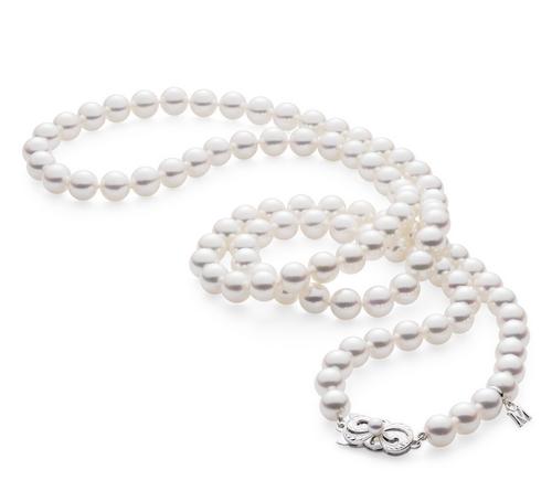 Mikimoto Akoya 32 Akoya Cultured Pearl Strand Necklace - White Gold Clasp