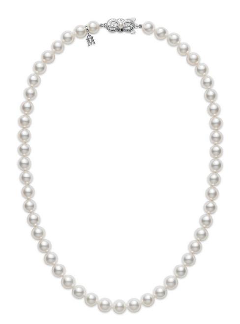 "Mikimoto 16"" Strand Necklace - White Gold Clasp"