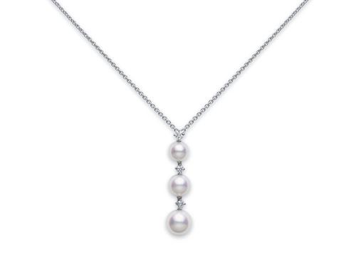 Mikimoto Three Pearl Drop Pendant