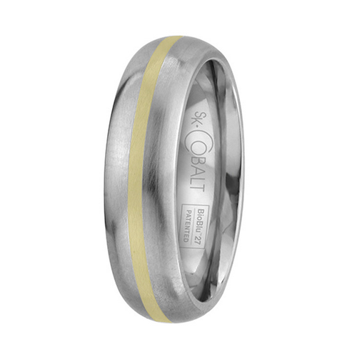 Scott Kay Unity Yellow Gold Wedding Band Single Gold Stripe