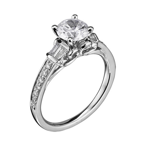 Scott Kay Radiance Engagement Ring Half Band Diamond