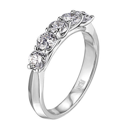 The Crown Wedding Band Five Stone 0.50ct