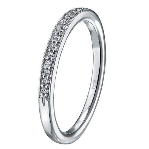 Scott Kay Radiance Wedding Band Single Diamond-Sided Narrow