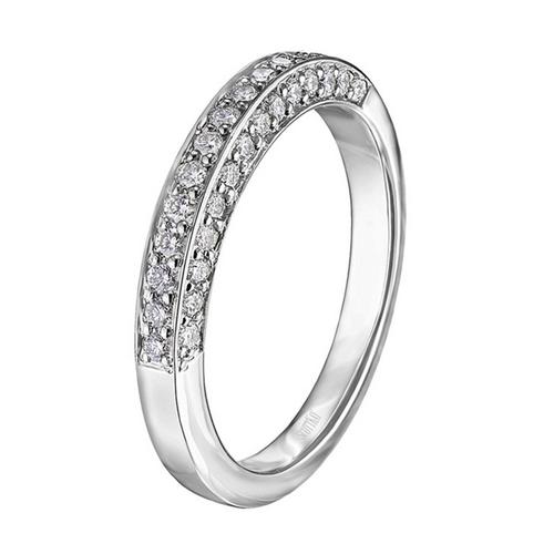 Trellis Wedding Band Triple Diamond-Sided 0.47ct