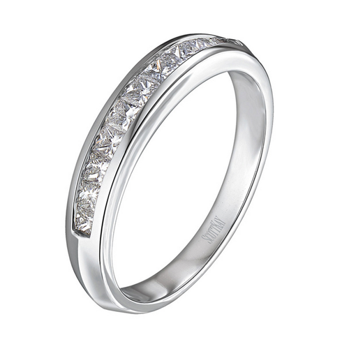 Scott Kay The Crown Wedding Band Continuous Embedded Diamonds