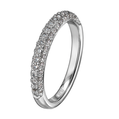 The Crown/Contemporary Wedding Band Rounded Triple-Edged Diamond Band 0.51ct