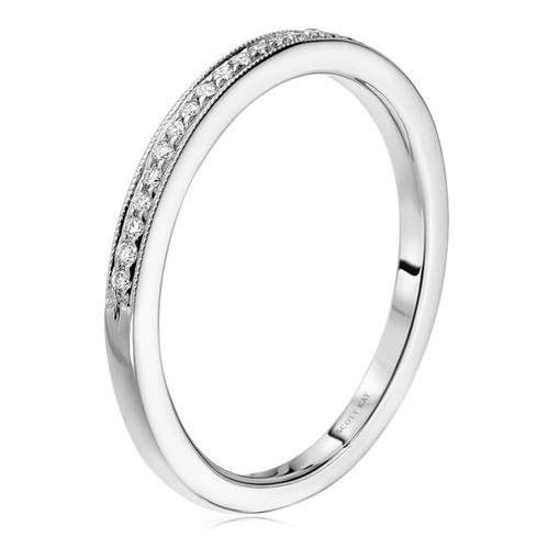 Scott Kay Radiance Wedding Band Single Diamond-Sided Embedded