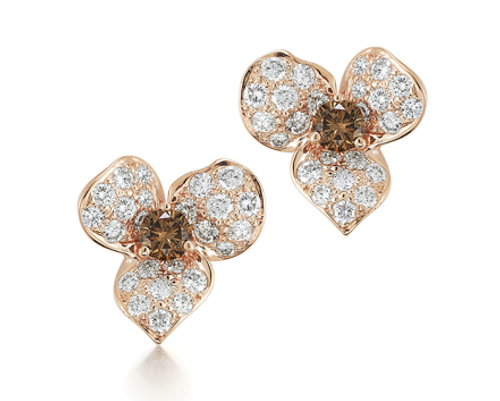 Kwiat Diamond stud earrings from the Floral Collection in 18K rose gold