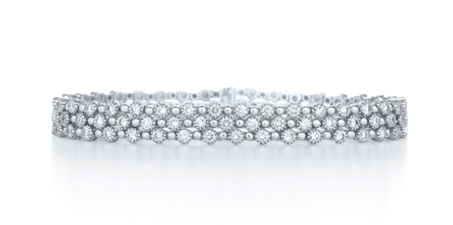 Kwiat Three row diamond bracelet from the Stardust Collection in 18K white gold