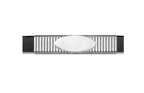 Grand Band Classic Collection Sterling Silver Pinstripe w/ Sterling Silver Engraveable Plate