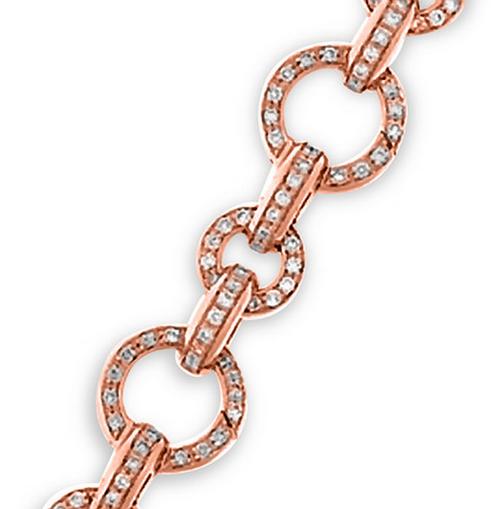 Aaron Basha 18K Rose Gold Basha Pave Open-Link Bracelet (large)