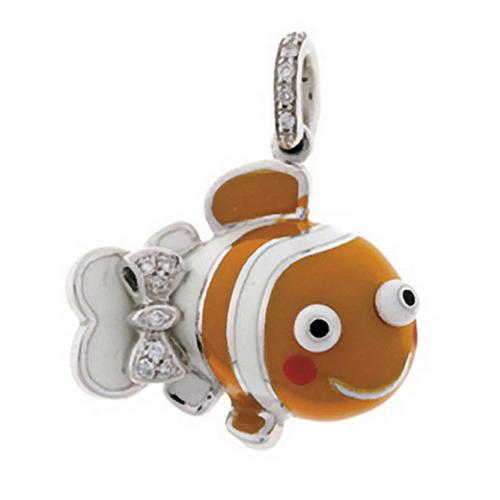 Aaron Basha 18K White Gold Orange and White Clown Fish
