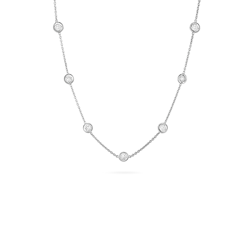Roberto Coin 18K White Gold 13 Station Diamond Necklace