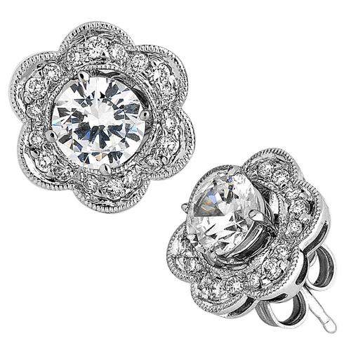 Spark 18K White Gold .28ct Diamond Jacket Earrings
