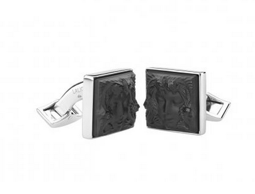 Lalique Aréthuse Cufflinks in Silver