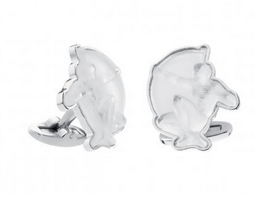Lalique Mascots Cufflinks Archer