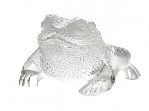 Lalique Gregoire Toad Sculpture
