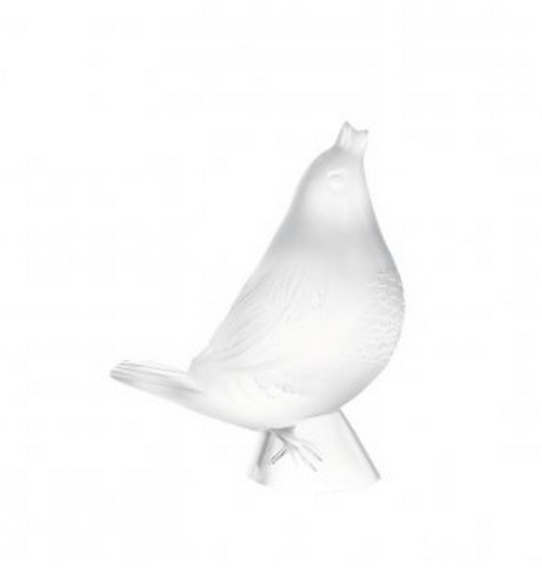 Lalique Worried Robin Ornament