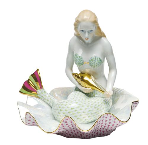 Herend Mermaid On Shell