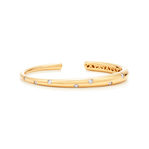 Kwiat Cobblestone Diamond Bracelet Diamond cuff in 18k yellow gold