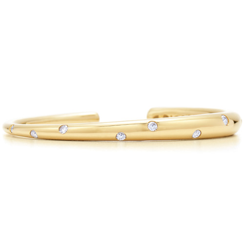 Kwiat Cobblestone Diamond Bracelet Diamond cuff in 18k yellow gold